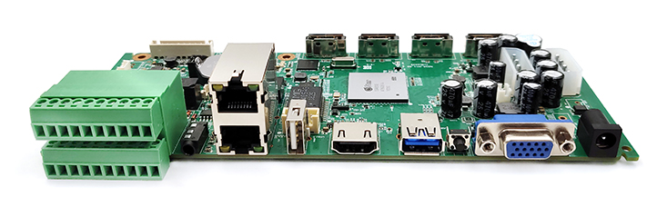 捷高ANVR4-3208(32路四盤位800W)NVR主板