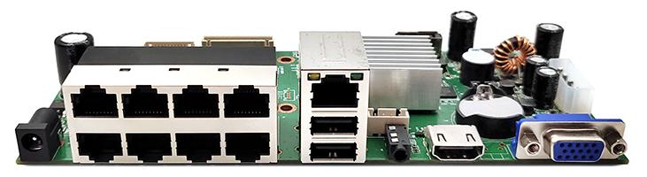 捷高APNVR-808K(8路800W) POE NVR主板